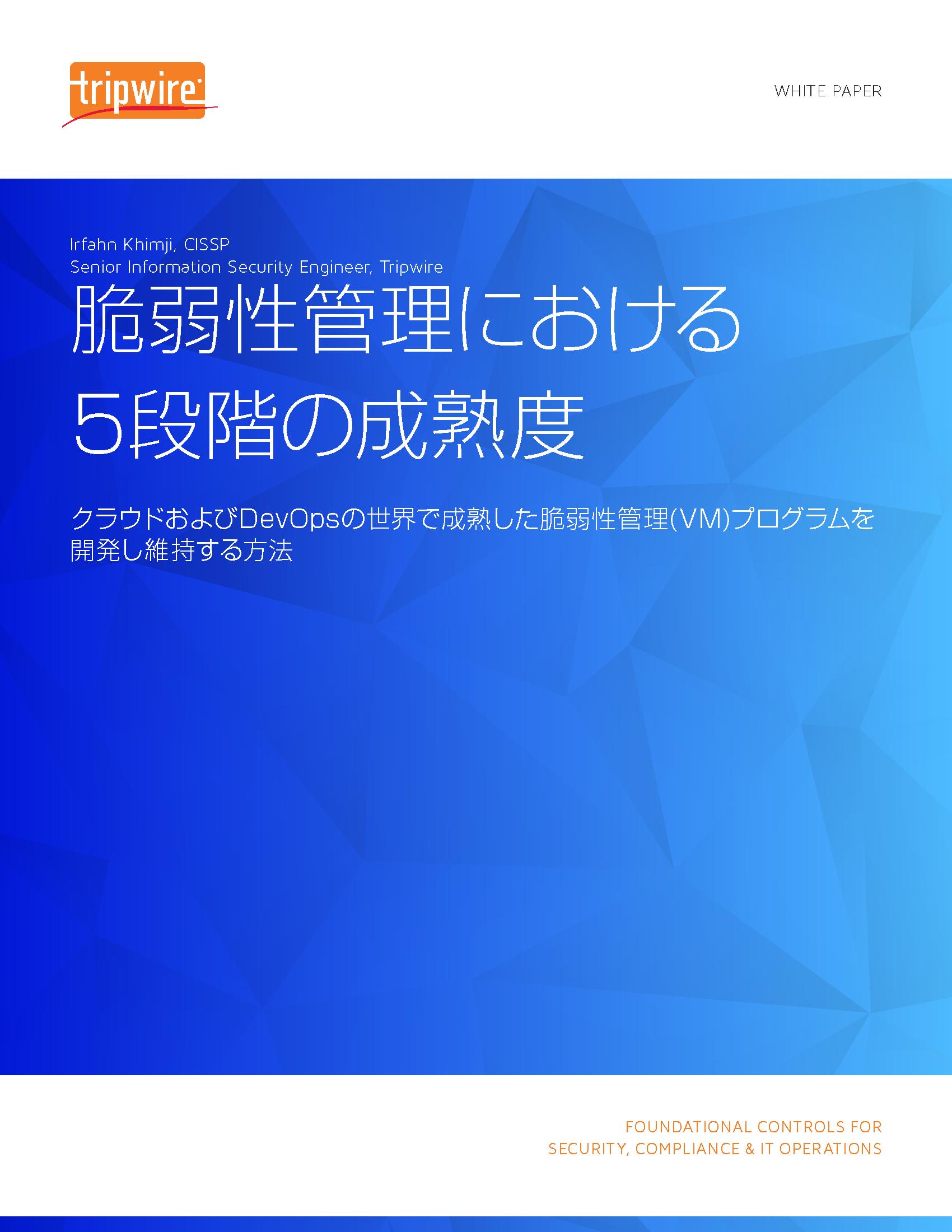脆弱性管理における5段階の成熟度 white paper