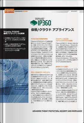 Tripwire IP360 仮想/クラウド アプライアンス